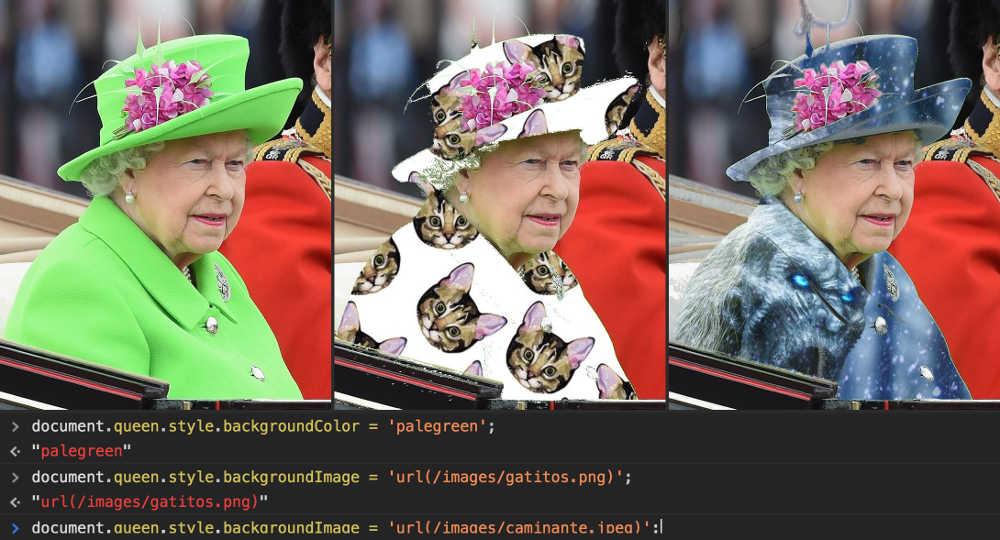 Cambiando el CSS de Isabel II con Javascript