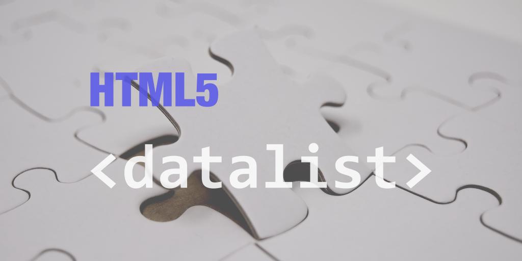 html5 datalist